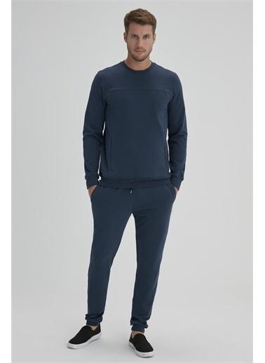 Dagi Petrol Firçali Erkek  Sweatshirt Mavi